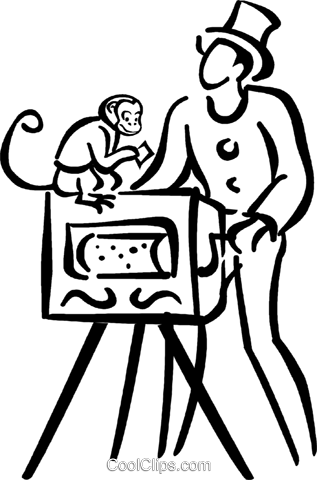 317x480 Organ Grinder Royalty Free Vector Clip Art Illustration Vc041682