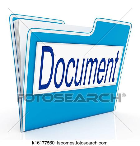 450x470 Stock Illustrations Of Document On File Means Organizing