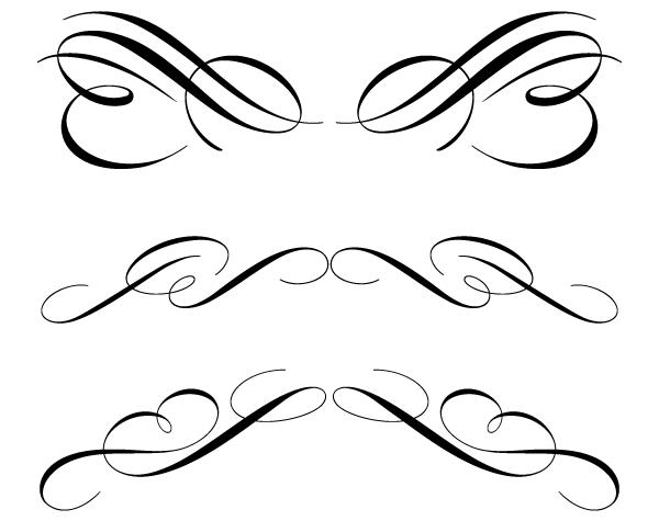 600x475 Free Calligraphic Ornament Clip Art 123freevectors