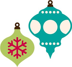 300x280 Retro Christmas Ornament Clip Art Merry Christmas Amp Happy New