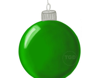 340x270 Turquoise Christmas Ornament Clip Art Hand Painted Clip Art