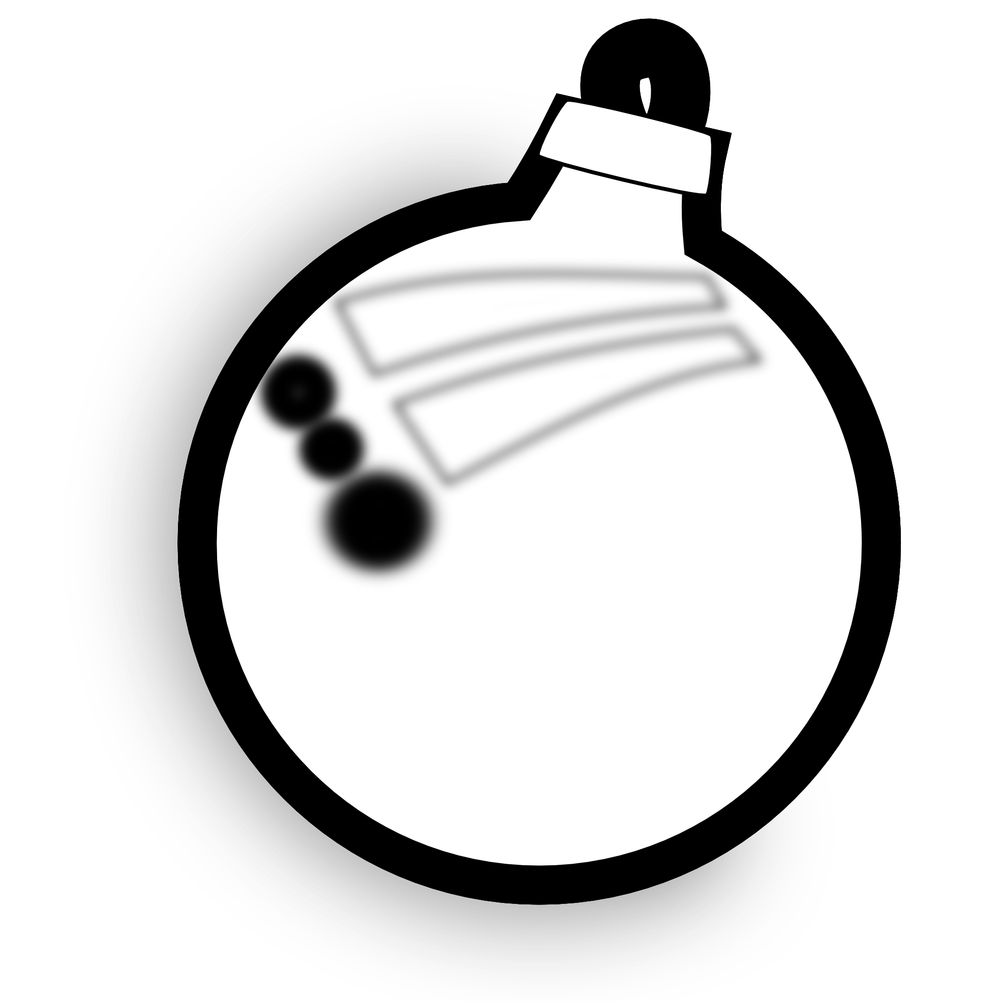 1969x1969 Christmas Ornament Black And White Clipart