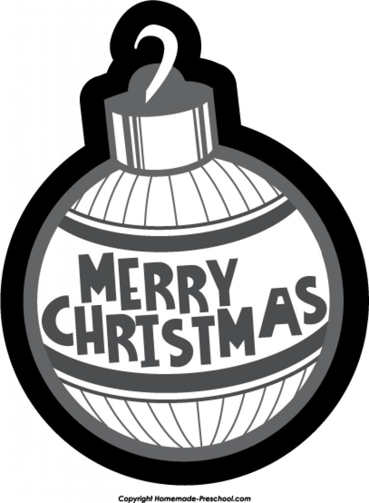 752x1024 Christmas ornament black and white designcorner clip art