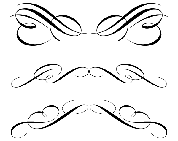 600x475 Ornamental Clipart Line Art