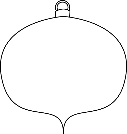 500x528 Black and White Christmas Ornament Clip Art