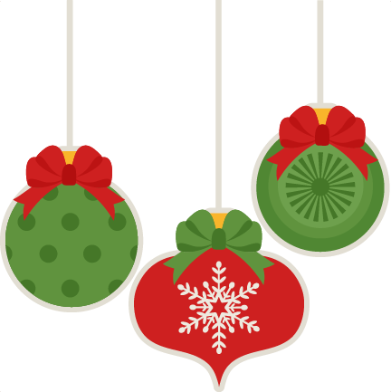 432x433 Christmas Ornament Set scrapbook cut file cute clipart files for