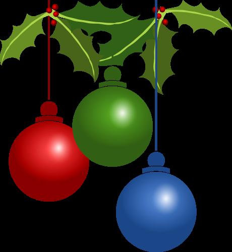 460x500 Christmas Bulb Clipart