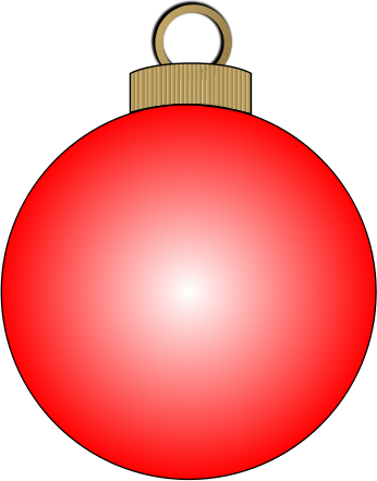 346x441 Christmas Ornament Clipart