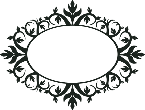 500x382 Ornamental Oval Frame Vector Clip Art Public Domain Vectors