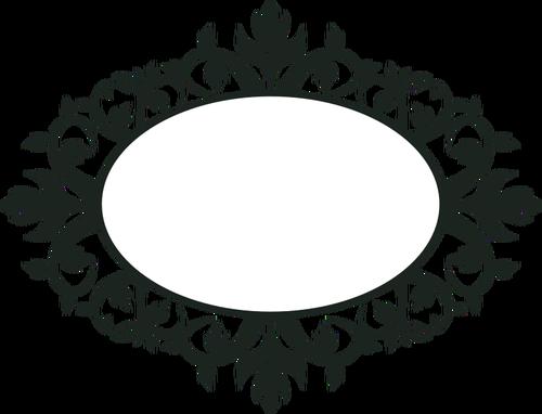 500x382 Ornamental Oval Frame Vector Clip Art Public Domain Vectors