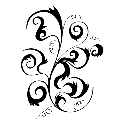 512x512 Swirly Floral Plant Ornament 2