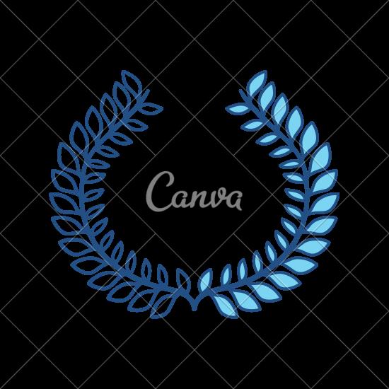 550x550 Wreath Leaves Ornament Vector Illustration Design