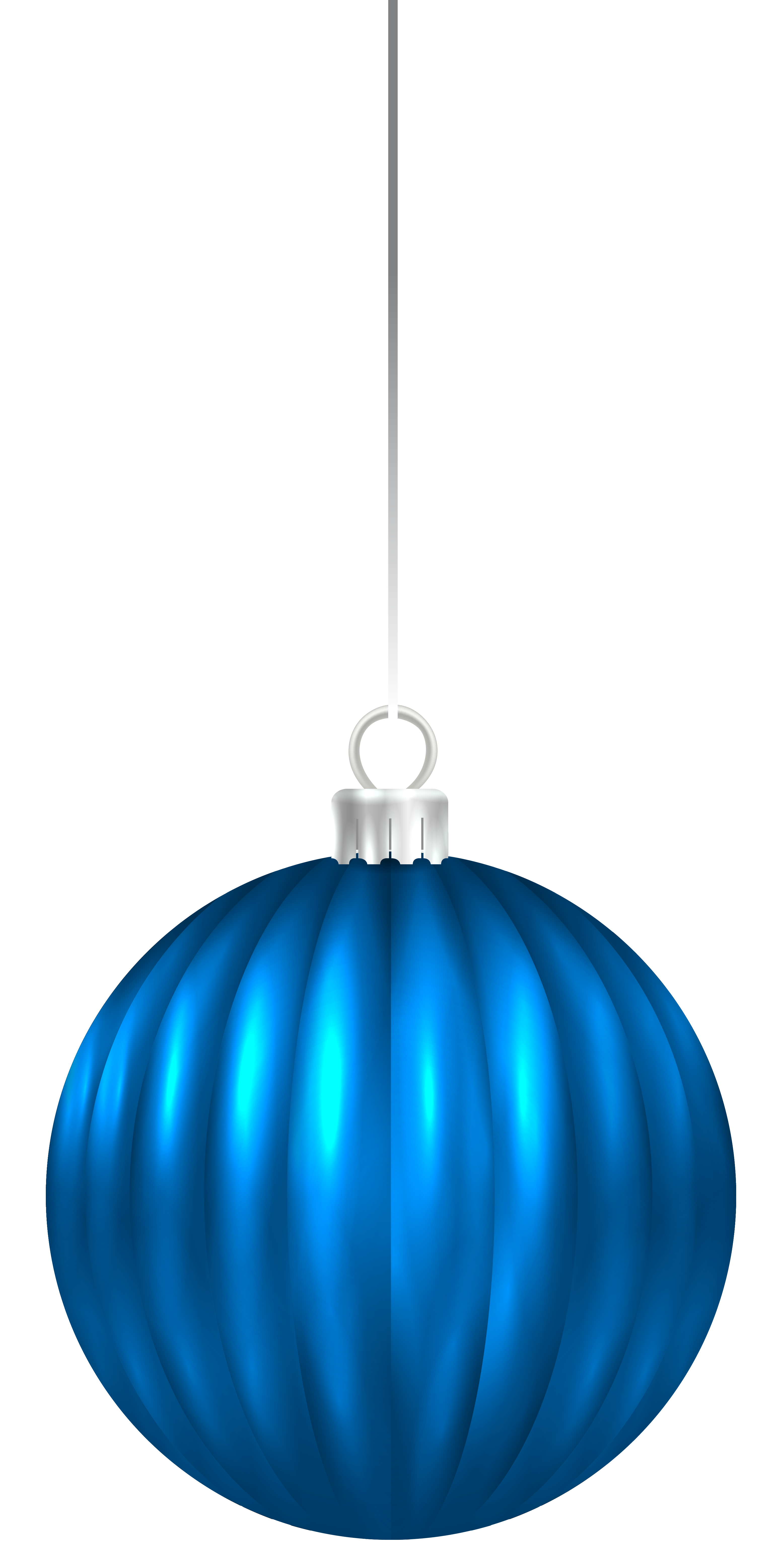 3106x6230 Christmas Ornaments Clipart Blue Christmas