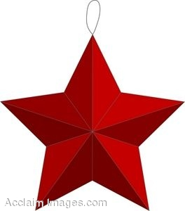 264x300 Clip Art Of A Christmas Ornament Shaped Like A Star