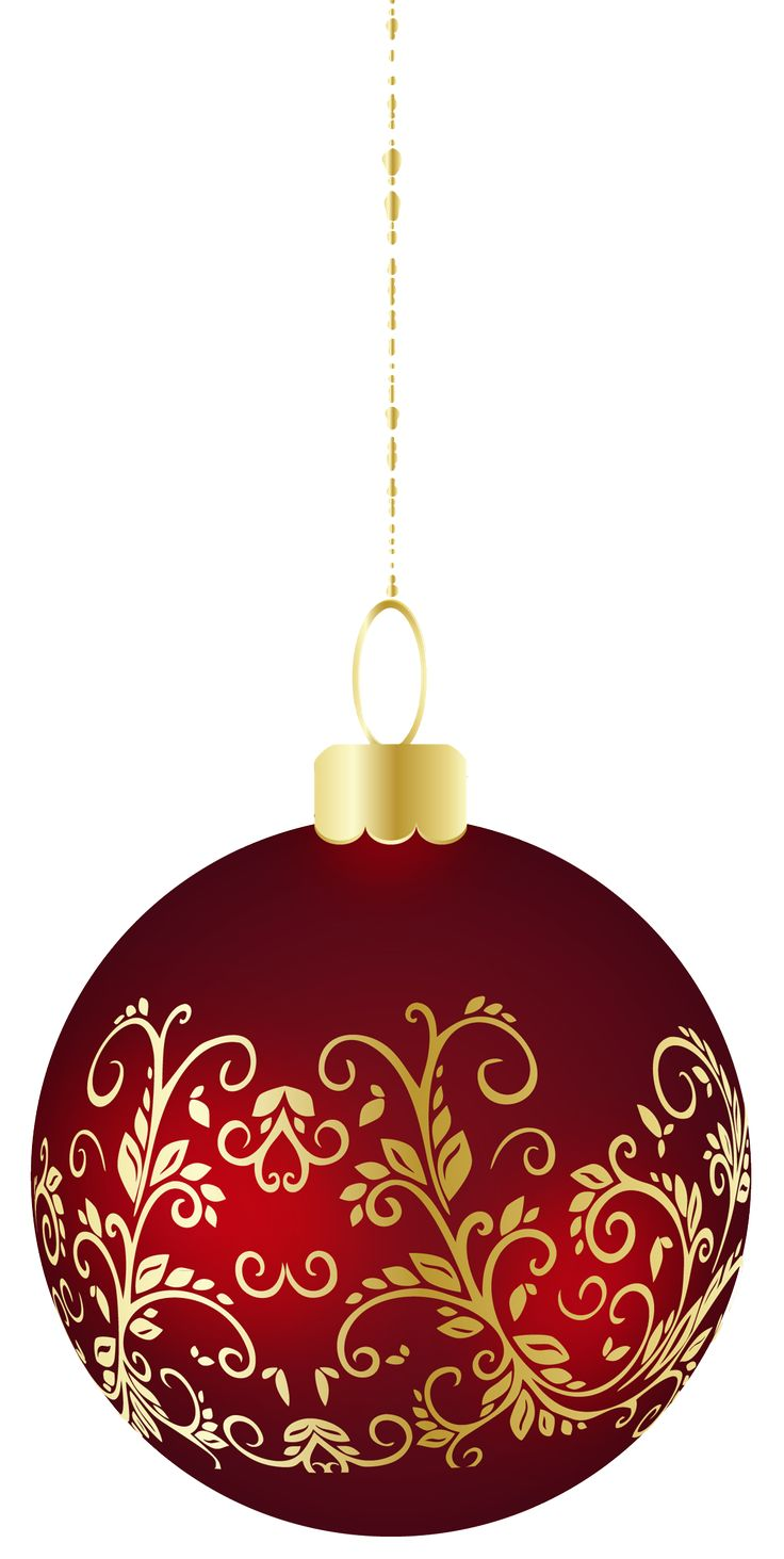 736x1463 Red Christmas Decorations Clipart Christmas Ornaments Clip Art