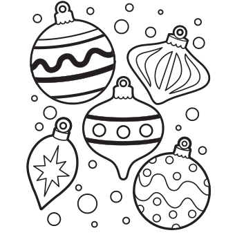 340x340 Christmas Ornament Coloring Pages Happy Holidays!