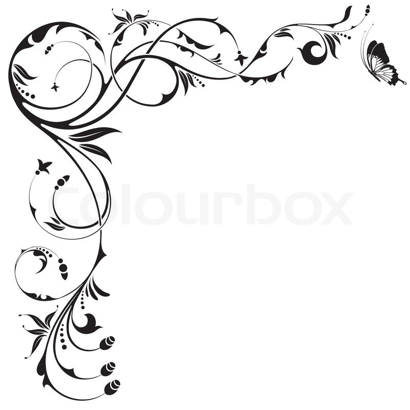 800x800 Decoration Clipart Black Butterfly