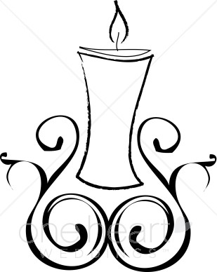 309x388 Candle Clipart Christmas Wedding Clipart