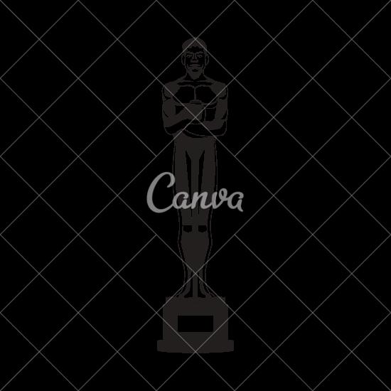 550x550 Isolated Oscar Statue