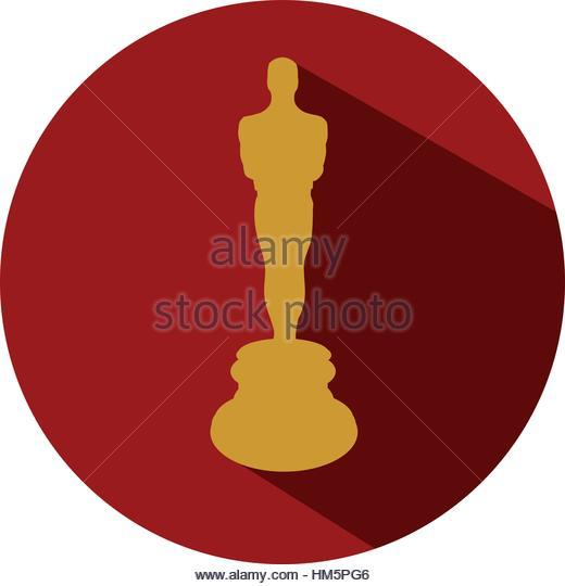 520x540 Oscar Statue Award Stock Vector Images