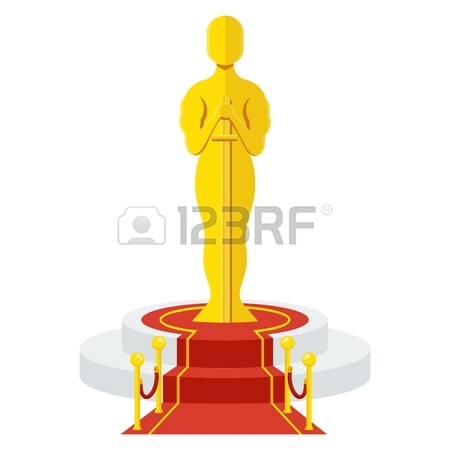 450x450 Statuette Award Festival Oscar On Red Carpet Of Honor. Movie