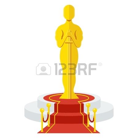 450x450 Statuette Award Festival Oscar On Red Carpet Of Honor. Movie