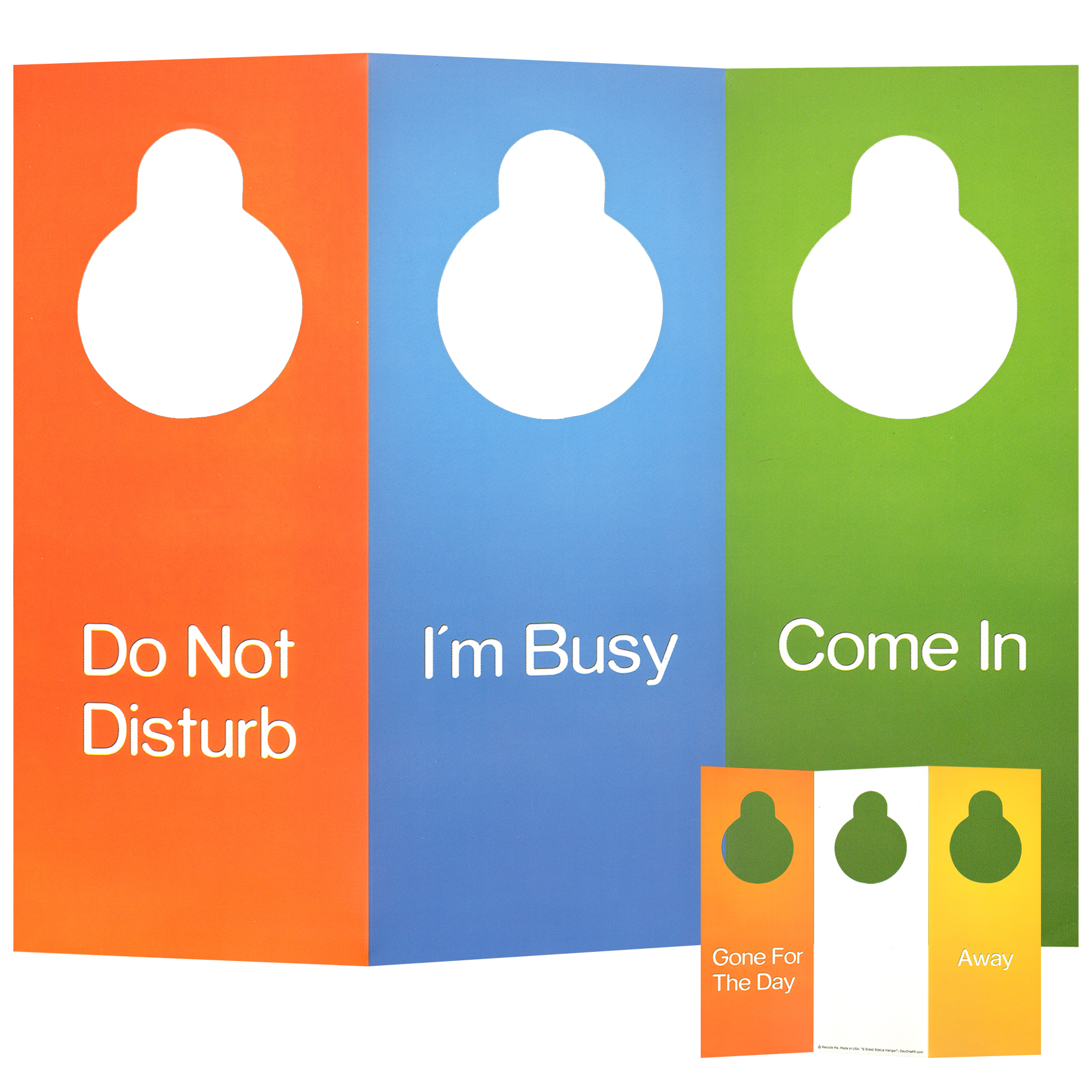 1800x1800 Multi Sided Door Hanger 6 Sided Foldable Do Not Disturb Sign +