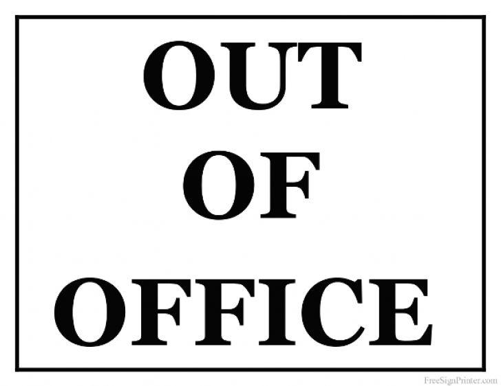 the office door sign