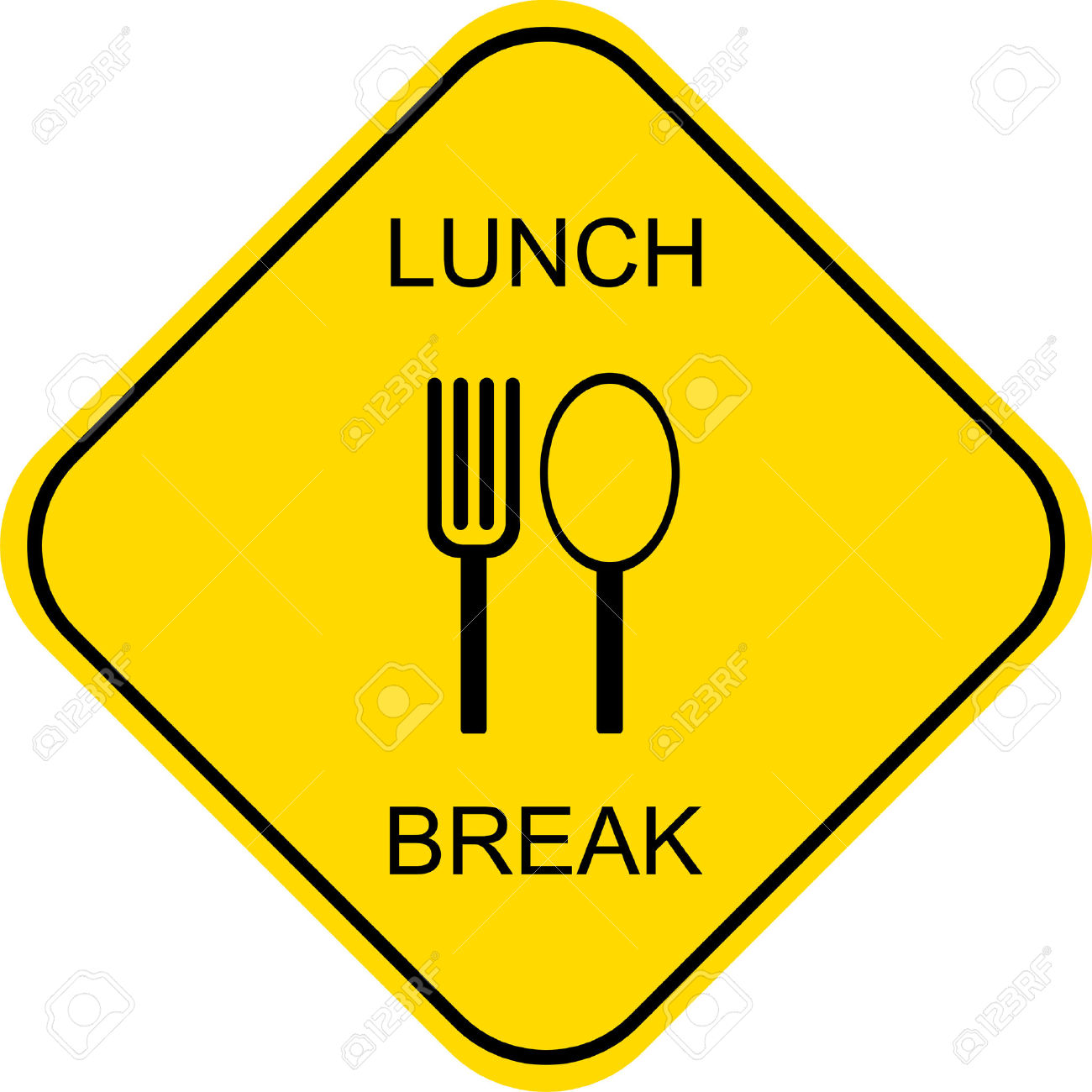 1300x1300 Sign Clipart Lunch Break