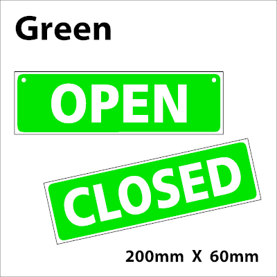 400x400 Open Closed Hanging Sign Amazon.co.uk Office Products