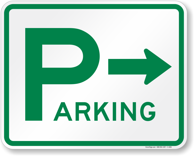 800x646 Parking Lot Signs