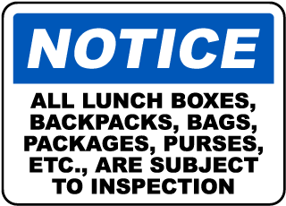 320x230 Security Checkpoint Signs For Your Facility
