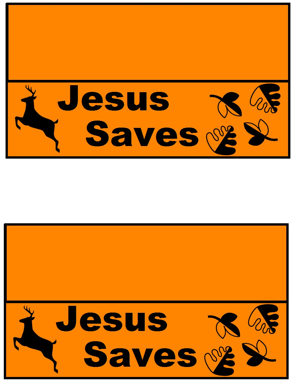 1019x1319 Church House Collection Blog Deer Jesus Saves Lunch Bag Template