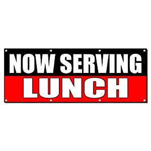 300x300 Now Serving Lunch Food Fair Promotion Sign Banner 2