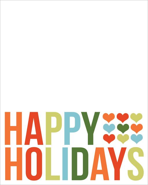 512x640 Happy Holidays Filler Card Printable For Project Life Project