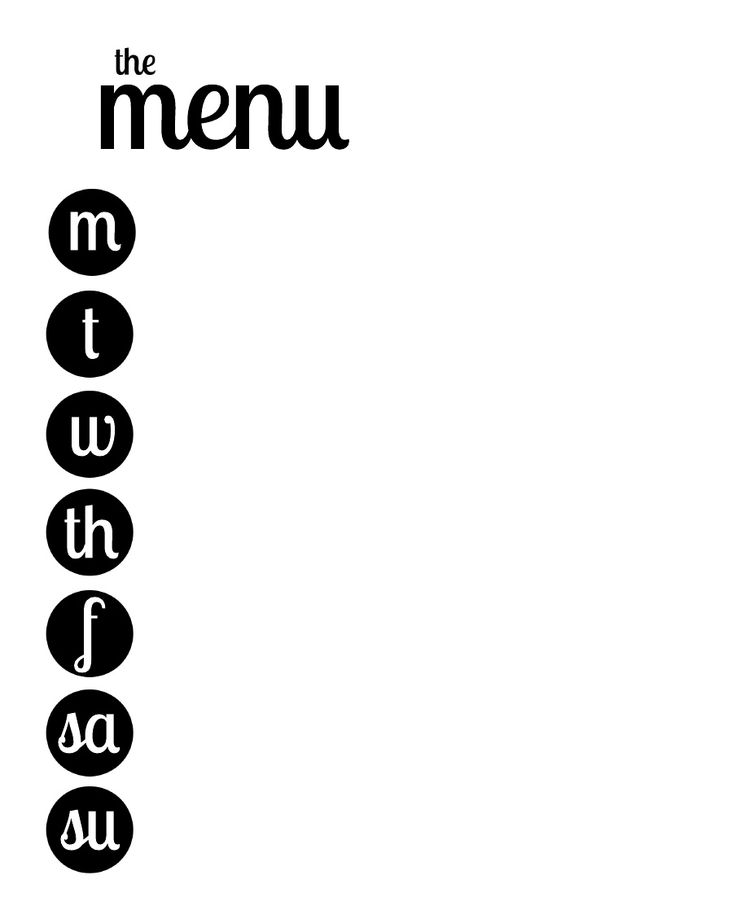 736x919 Best Weekly Menu Printable Ideas Weekly Food