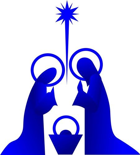 451x500 Free Outdoor Nativity Scene Pattern Downloadable Embroidery