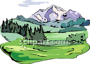 300x214 Mountain Clipart Mountain Scene