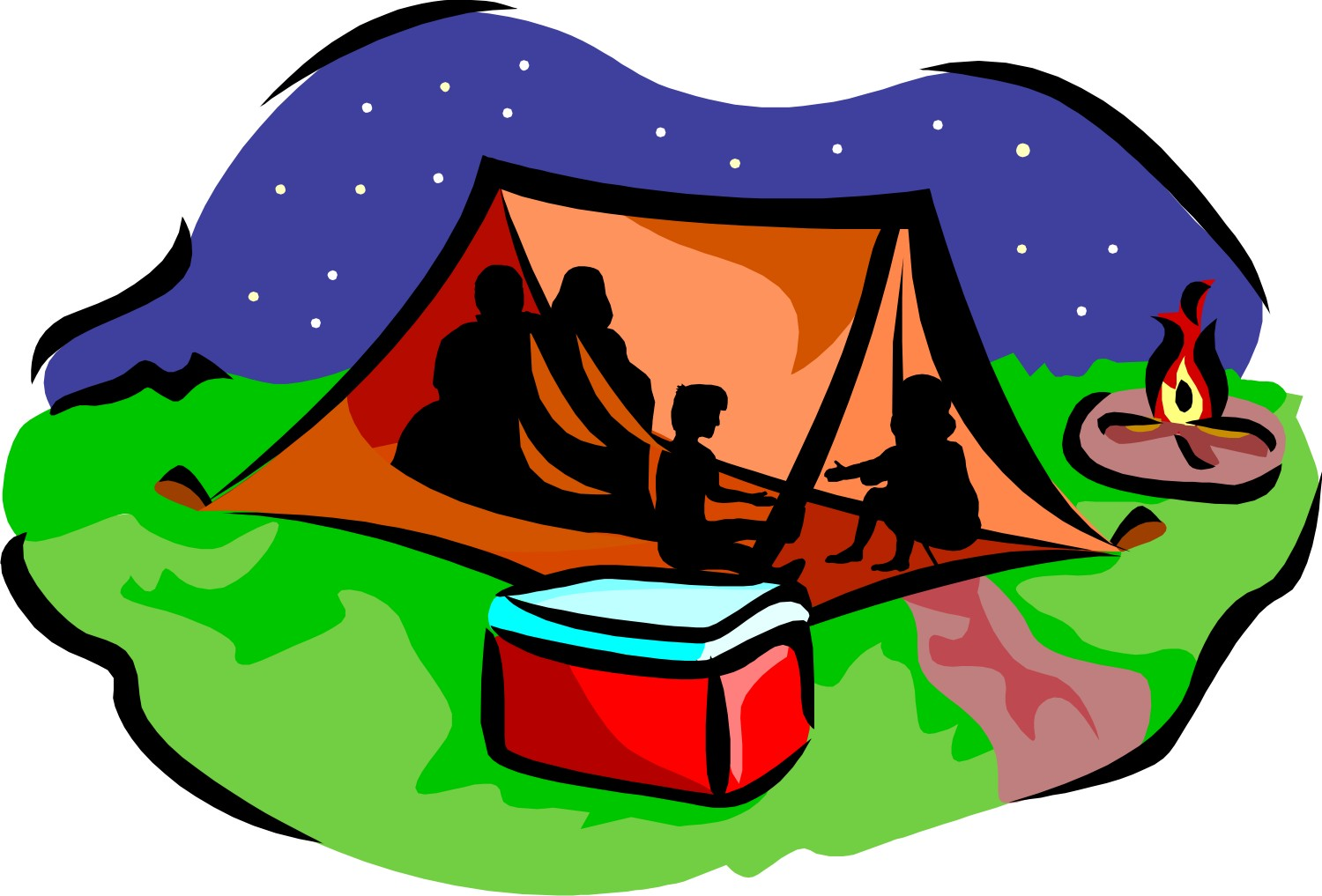 1500x1017 Night Clipart Camp Tent
