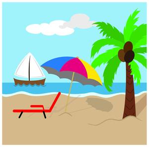 300x295 Seashore Clipart Tropical Scene