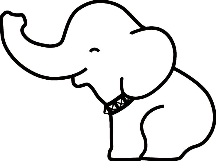736x548 Best Elephant Outline Ideas Easy Elephant