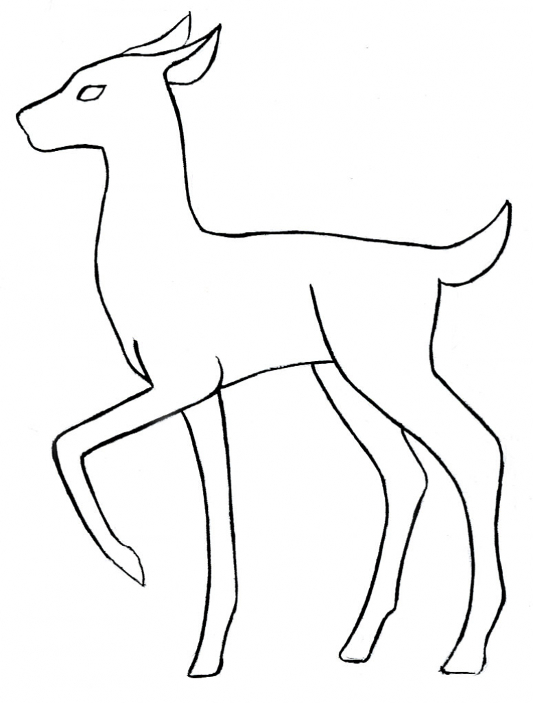 777x1024 Best Drawings Of Animals Outline Drawings Of Animals Clipart Best