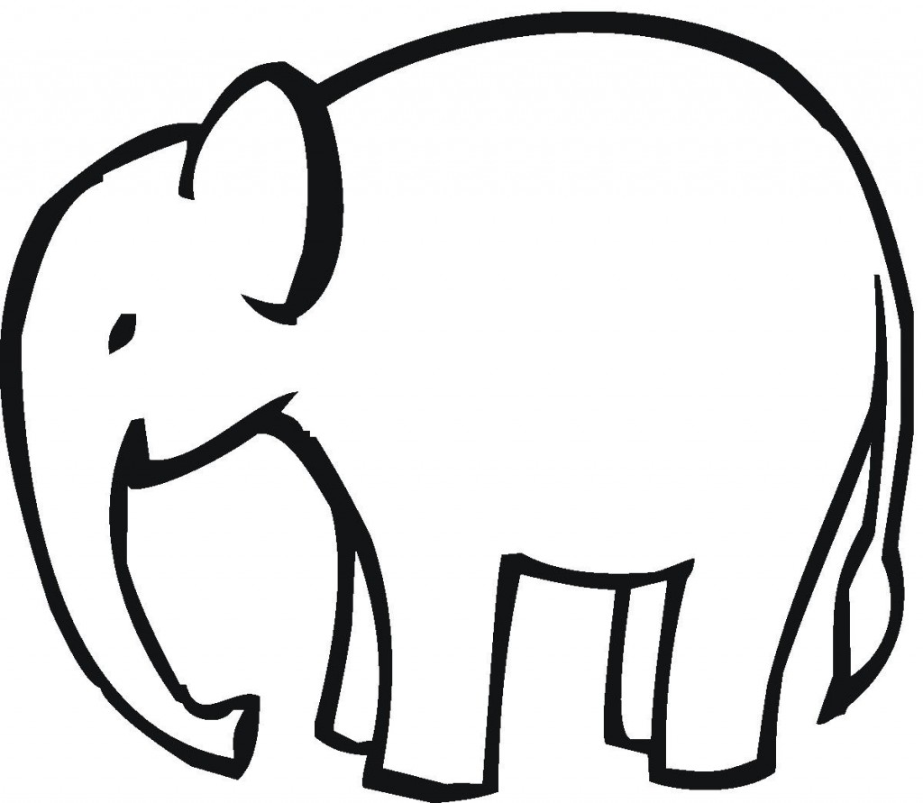 1024x891 Elephant Outline