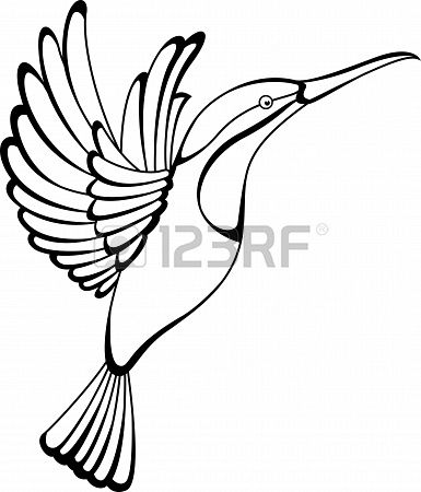 385x450 39 Best Hummingbird Outline Tattoo Images Cool