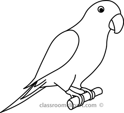 400x365 Drawn Bird Parrot