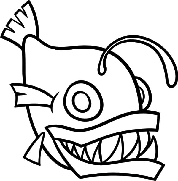600x612 How To Draw Monster Fish Coloring Pages Color Luna