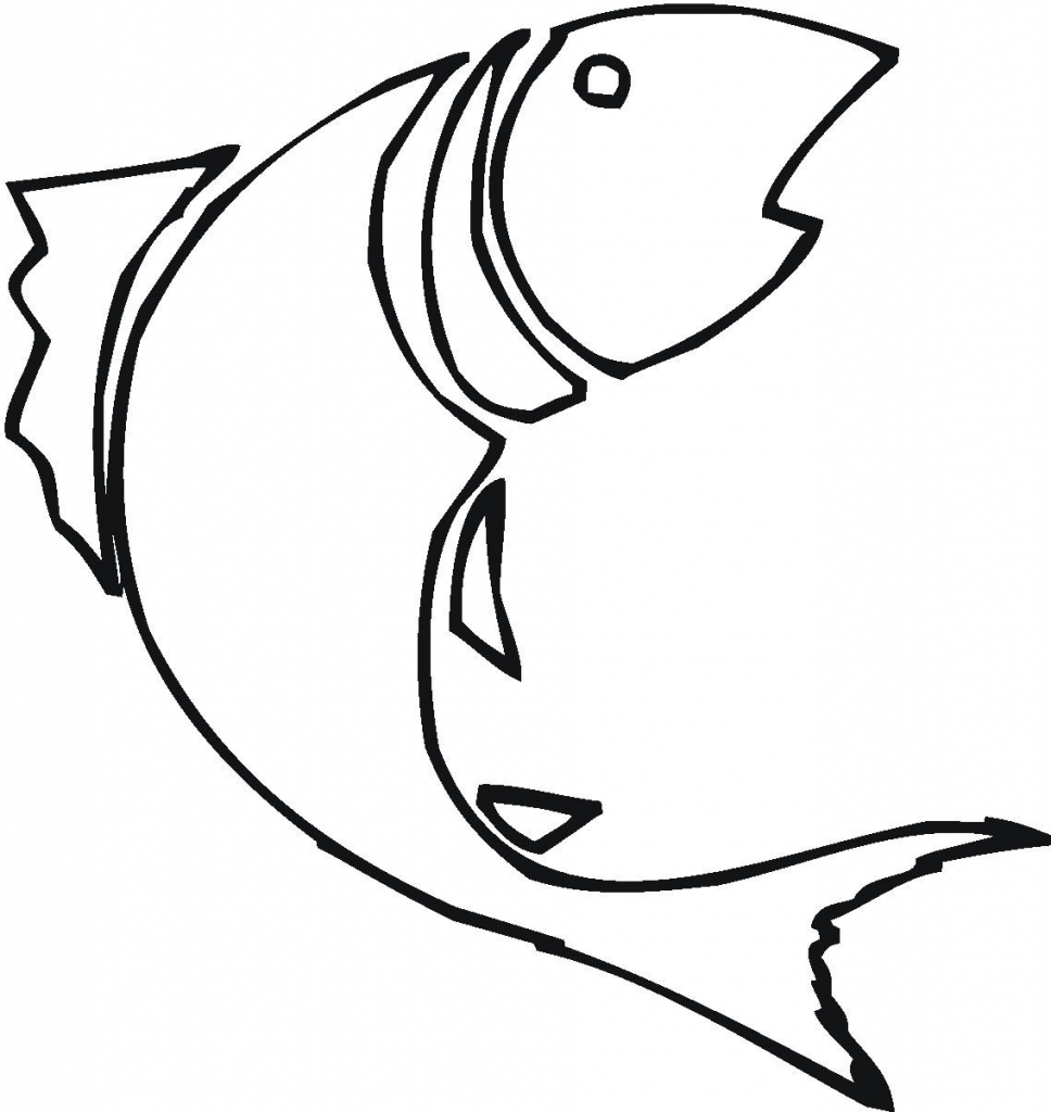 968x1024 Simple Drawing Of Fish Simple Fish Outline Clipartsco