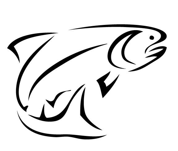 576x491 Bass Fish Outline Clip Art