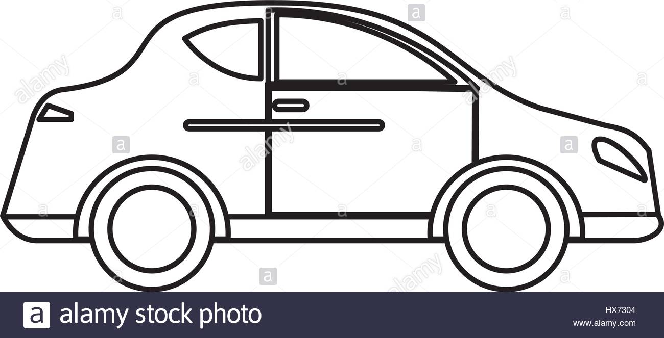 1300x663 Car Sedan Vehicle Transport Outline Stock Vector Art