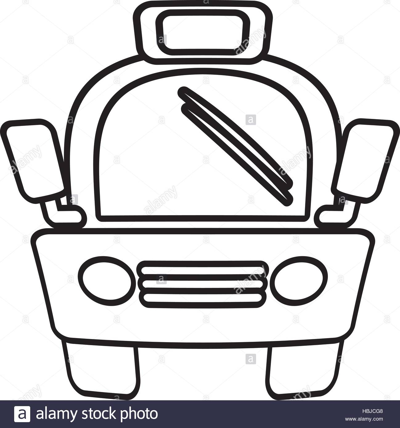 1298x1390 Outline Taxi Car Vehicule Transport Public Vector Illustration Eps